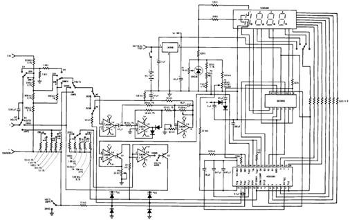 circuit shows about designing simple digital multimeter circuit