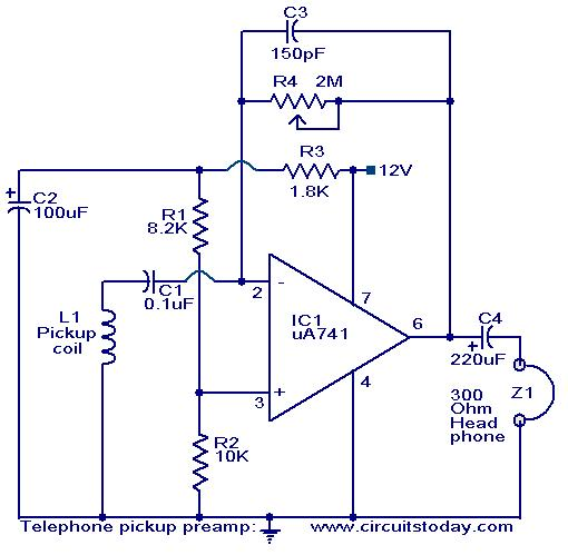 contactless telephone ringer circuit