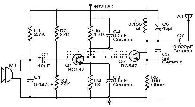 fm booster schematic diagram