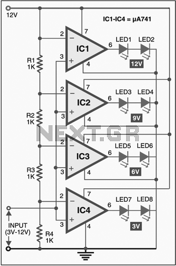the circuit contains 4 digit counter