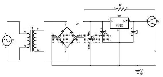 12 volts light dimmer circuit schematic