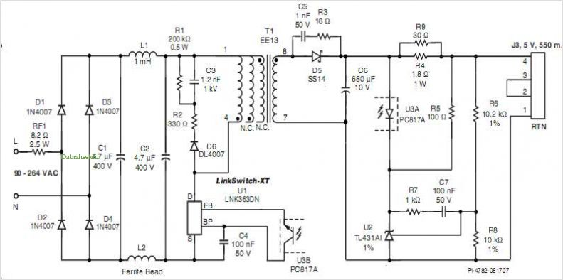 usb wall charger schematic