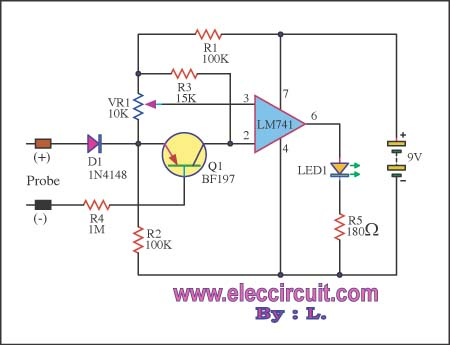 Simple digital voltmeter circuit diagram by CA3162CA3161 AM