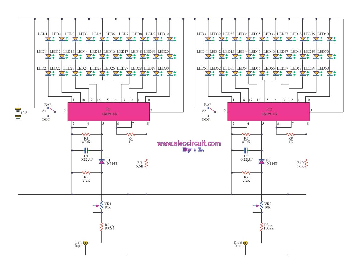 Vu Meter Circuit Page 3 Counter Circuits Next Gr Auto Voltmeter Nextgr