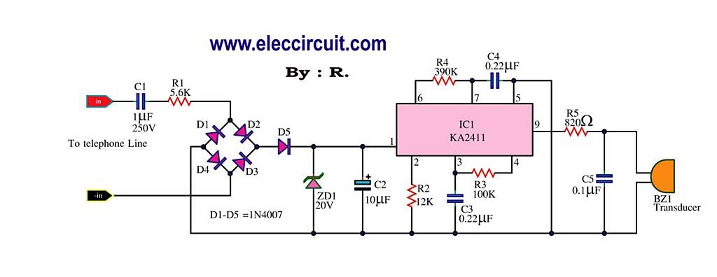 telephone ringer circuit Page 2  Telephone Circuits  Nextgr
