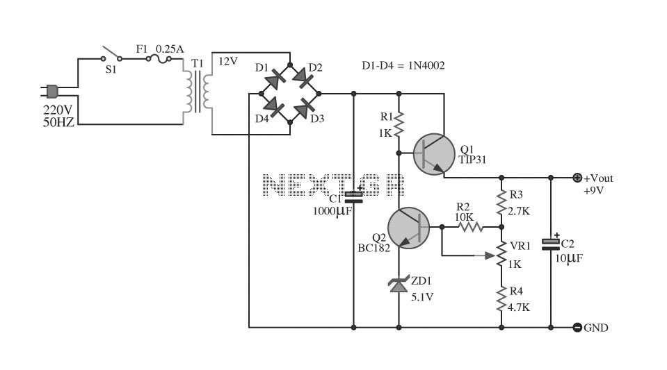 regulated dual power supply circuit