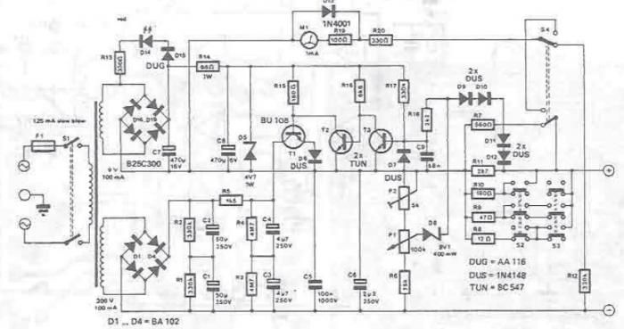40v lab power supply circuit diagram electronic project using lm723