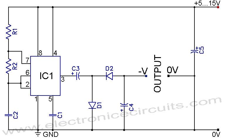 tlc497cn negative supply generator powersupplycircuit circuit