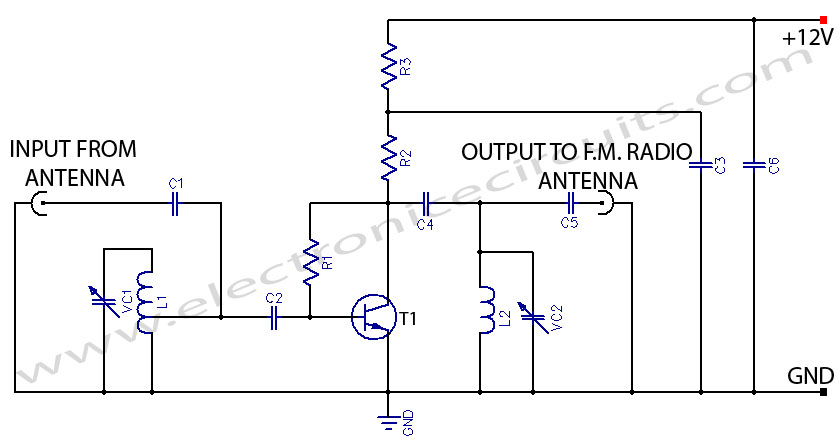 Uhf Antenna Booster Circuit Schematic Diagram Index listing of