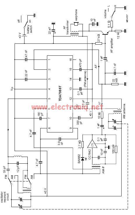 am radio receiver using by tea5551t circuit diagram