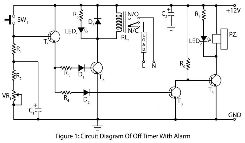 off delay timer circuit diagram