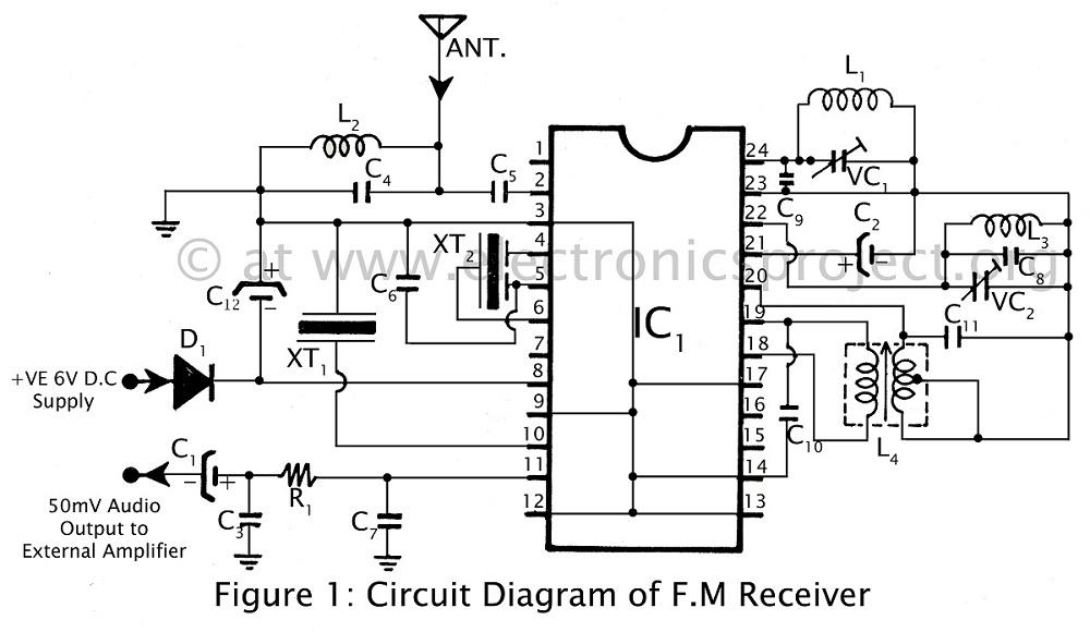 audioinductionreceive communicationcircuit circuit diagram