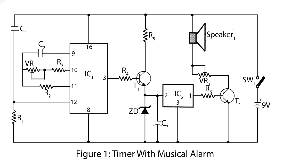off timer with alarm electronics project