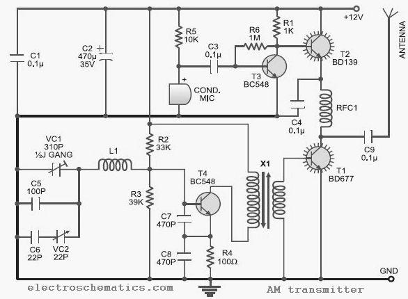 am radio transmitter circuit diagram electronic circuits diagram