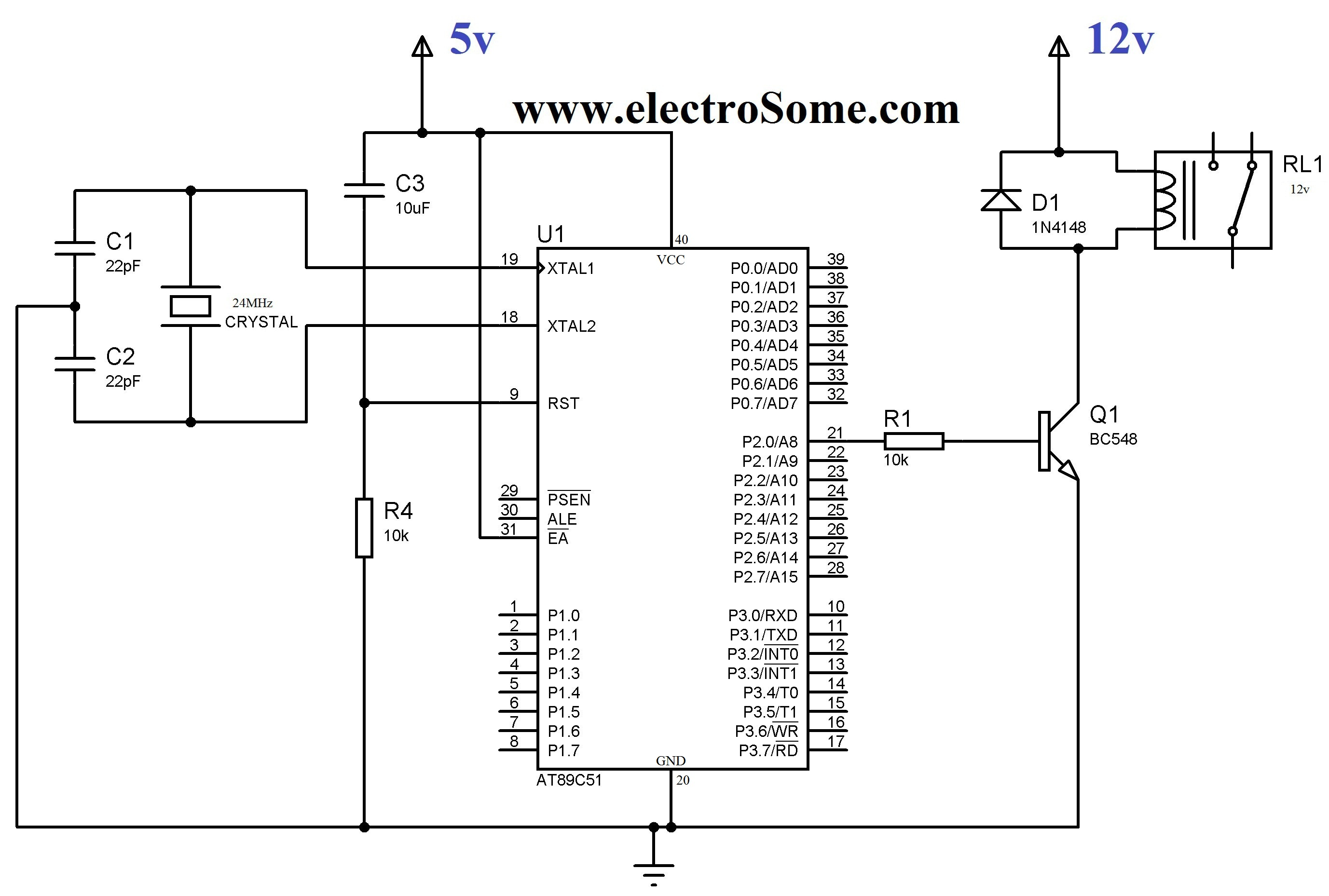electronic bistable relay