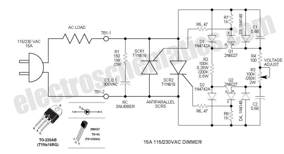 spot lamp dimmer by lm555 and tip2955