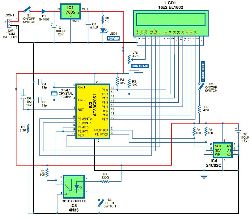 speedometer gauge wiring diagram
