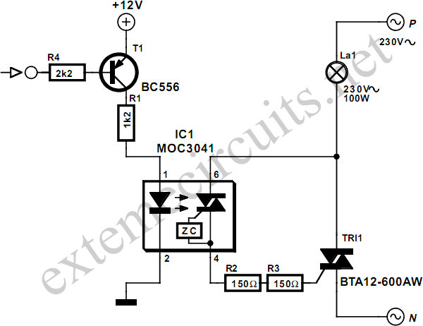relay control circuit diagram simple