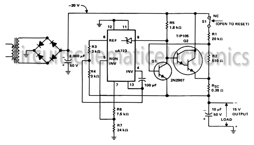 20 w car amplifier circuit with tda2009 circuit schematic