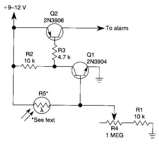 photoelectric sensor circuit diagram