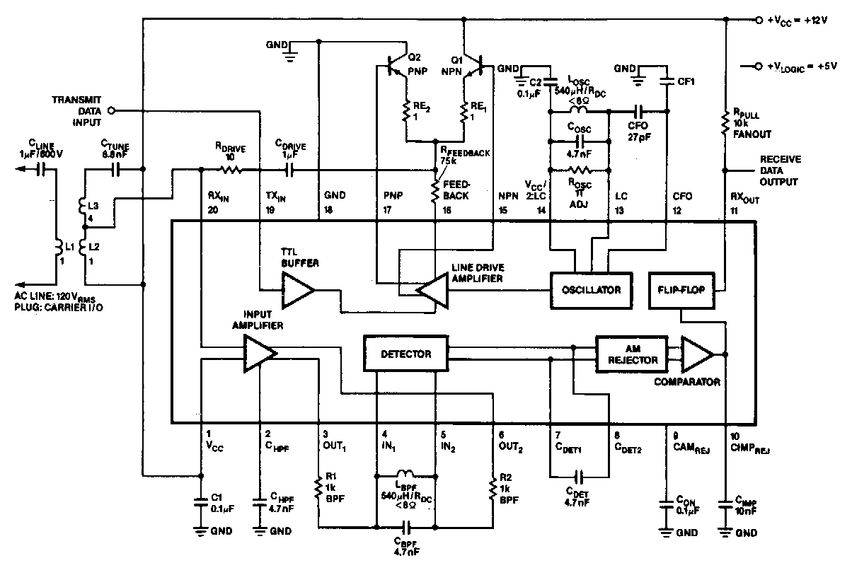 ip phone to analog phone or modem audio interface circuit