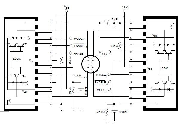 stepper motor control circuit with pic16f84a mosfet pic16f84 step