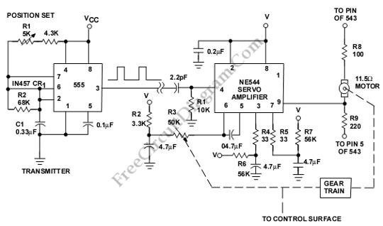 controller circuit this circuit is used to control a servo motor