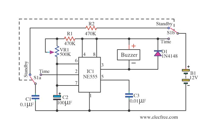 Relay Toggle Circuit Using A 555 Timer Index listing of wiring