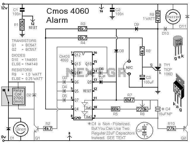 the above image shows a simple relay operated circuit which
