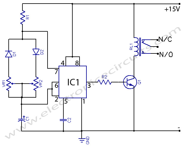 basic monostable multivibrator based ic 555 circuit diagram