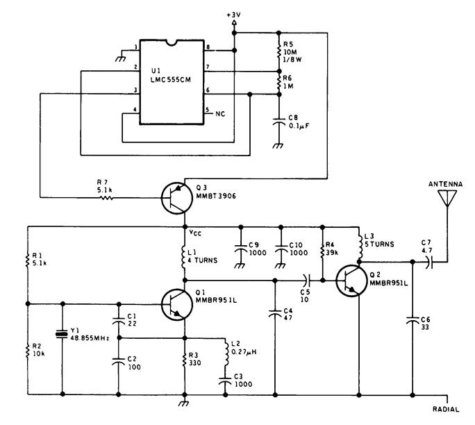 vhf band tv transmitter circuit diagram