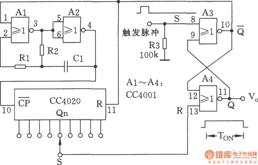 versatile discrete monostable multivibrator