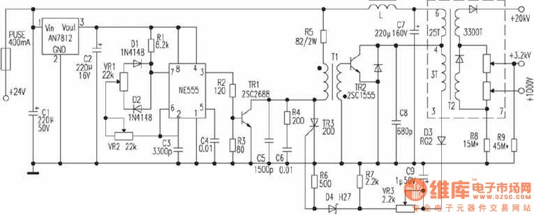 12v 20w led driver circuit diagram