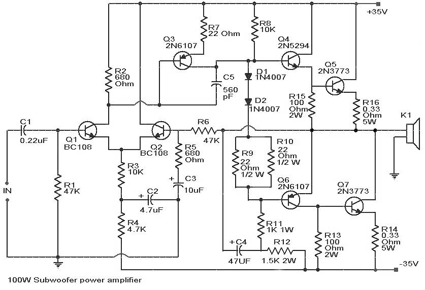 subwoofer amplifier circuit board