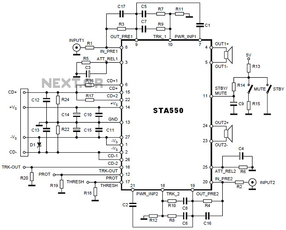 25 watt power amplifier using tda2009