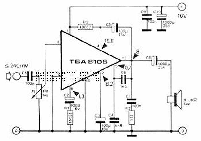 7 watt class b audio amplifier