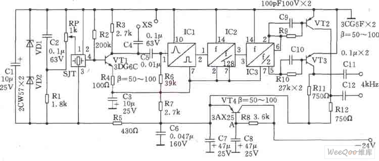 crystal quartz crystal oscillator circuit using fet oscillator