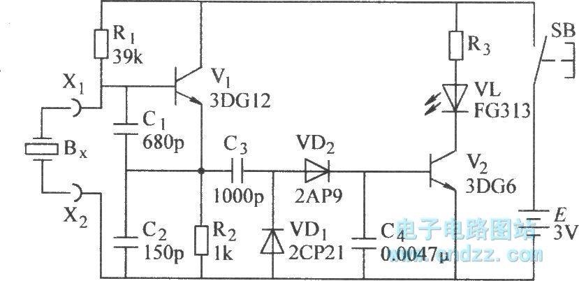 two simple test circuits to check operation of quartz crystals