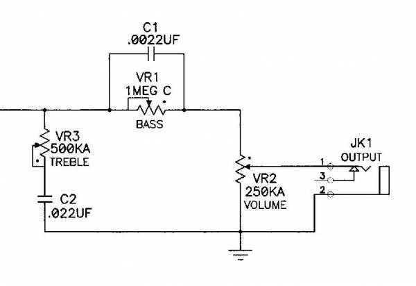 high impedance input hi fi tone control