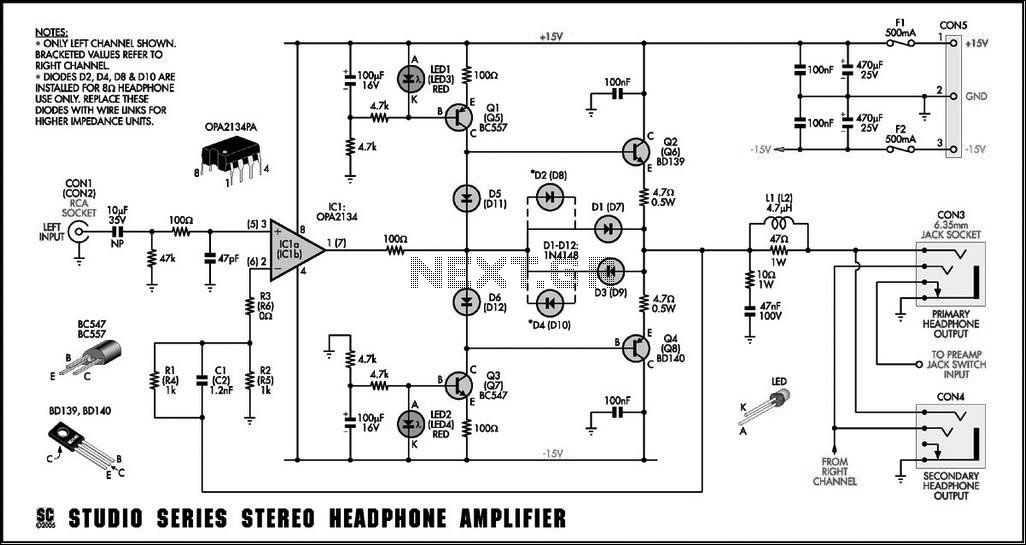 studio stereo headphone amplifier
