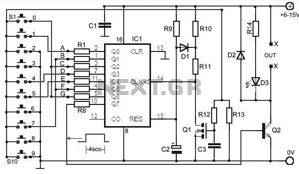 ibutton electronic lock circuit