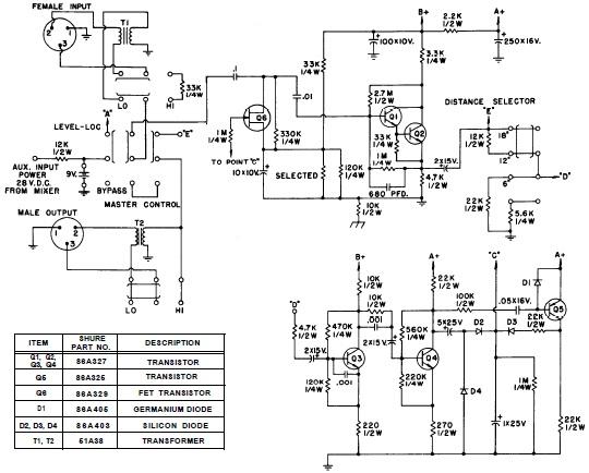 motorola vwa63 auto radio circuit diagram