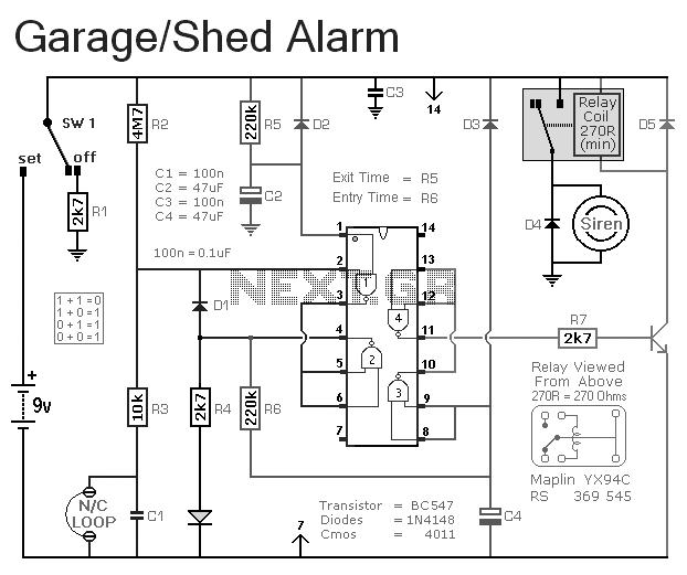 an enhanced shed garage alarm