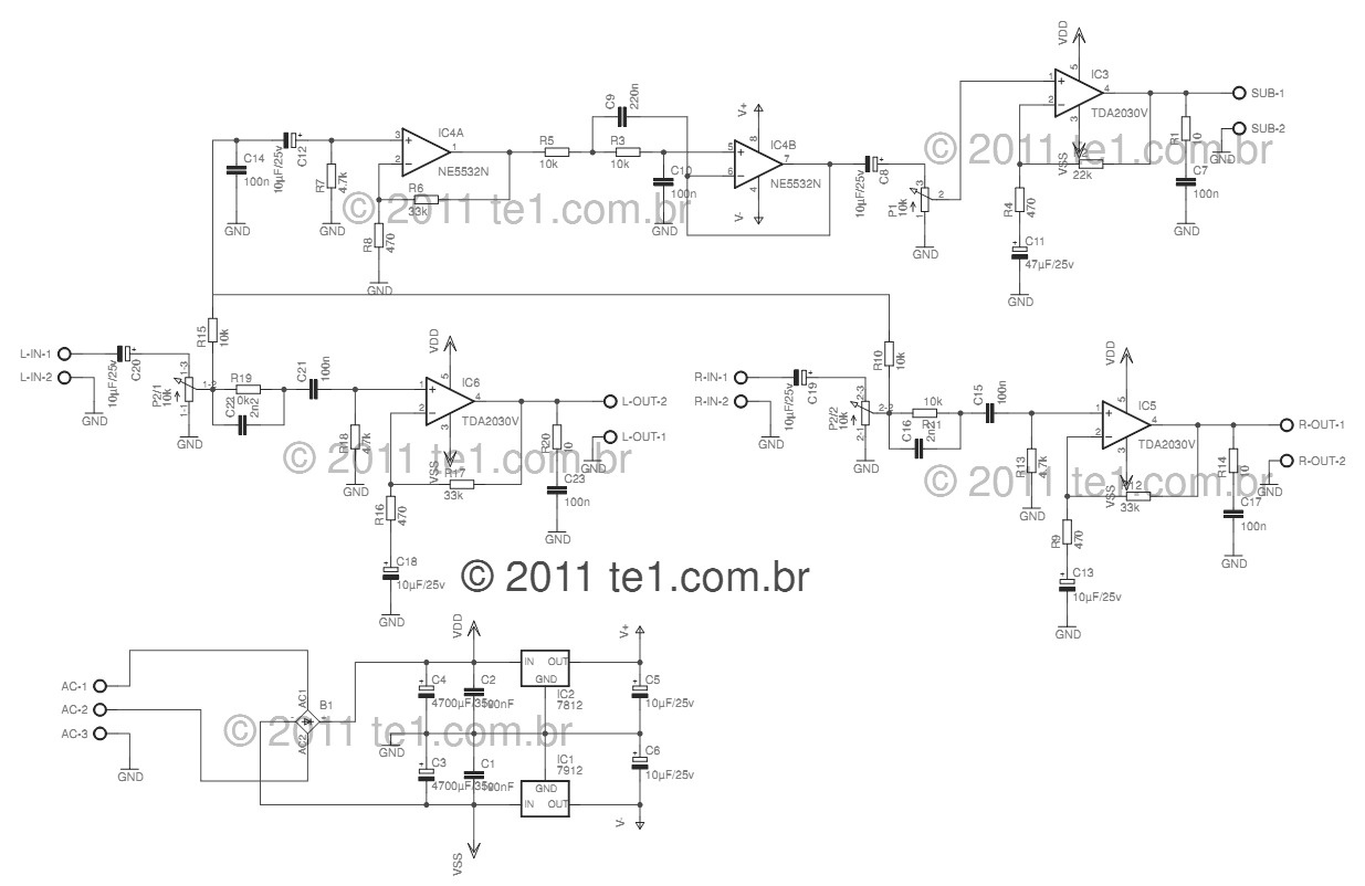 Audio Schematic Auto Electrical Wiring Diagram Power Amplifier Ocl 100w With Mj802 Mj4502 Electronic Projects U0026gt Circuits Circuit Tda2030 2