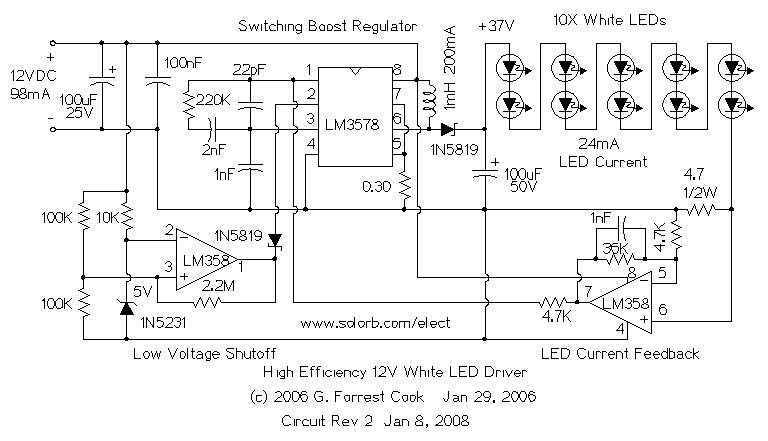 color changing led circuit