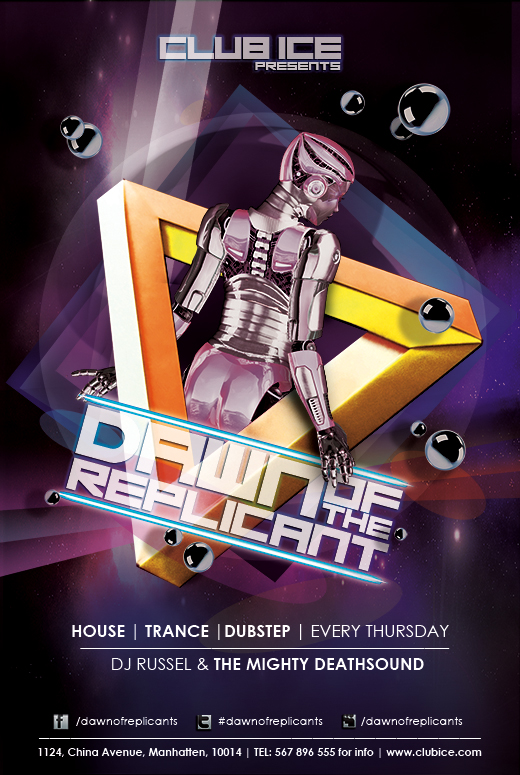 FREE Artistic Club Flyer Templates for Dubstep, Dance, Trance