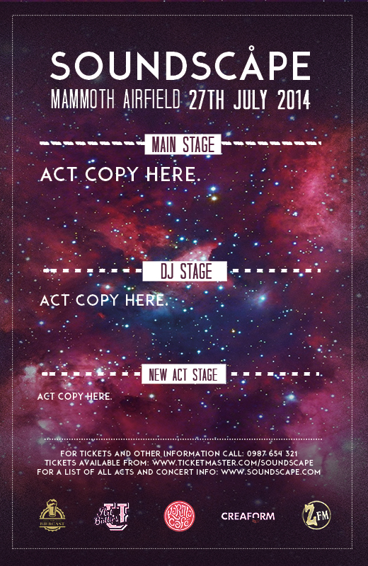 Free Photoshop Event Poster Template Pack for Summer Festivals