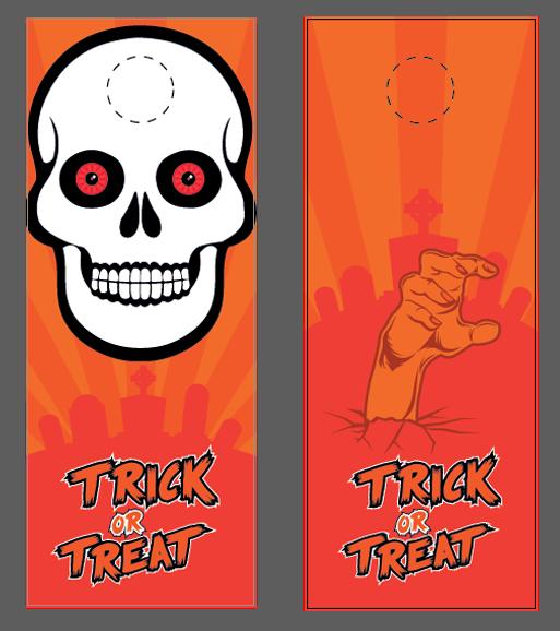 Free Halloween Templates \ Vector Files NextDayFlyers - door hanger template