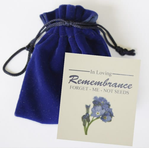 Forget me not Seed Packets, Personalized Flower Seed Pouches