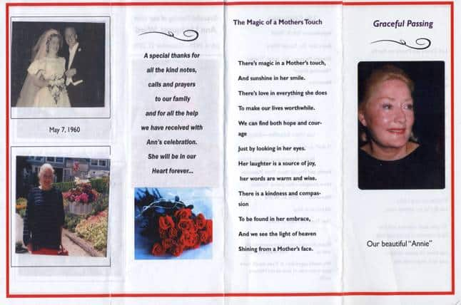 Funeral Program Example Funeral Program Obituary Templates Memorial - free template for funeral program